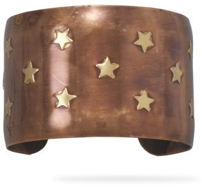 "1.75"" Brass and Copper Star Design Cuff"