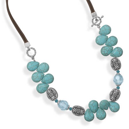 "18"" Magnesite Fashion Toggle Necklace- DISCONTINUED"
