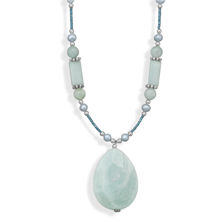 "16""+2"" Amazonite Drop Fashion Necklace - DISCONTINUED"
