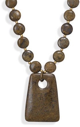 "16""+2"" Bronzite Fashion Necklace - DISCONTINUED"