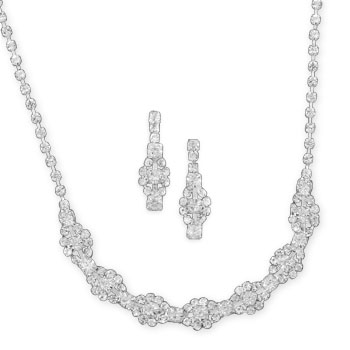 "16""+2"" Oval Design Fashion Necklace and Earring Set- DISCONTINUED"