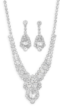 "16""+2"" Crystal Fashion Necklace and Earring Set"