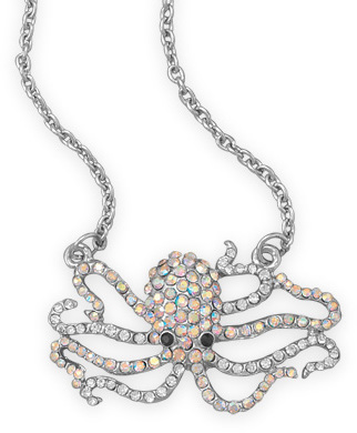 "20""+3"" Crystal Octopus Fashion Necklace - DISCONTINUED"
