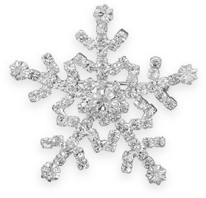 Crystal Snowflake Fashion Pin - DISCONTINUED