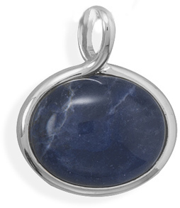 Silver Plated Sodalite Fashion Slide