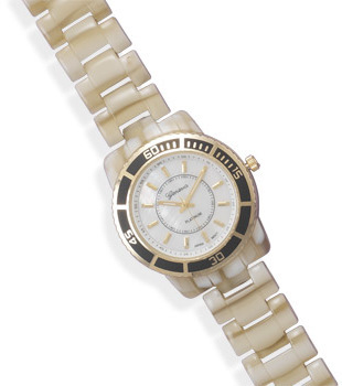 Shell Band Fashion Watch with Round Face - DISCONTINUED