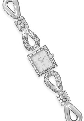 "7""+1"" Silver Tone Toggle Fashion Watch - DISCONTINUED"