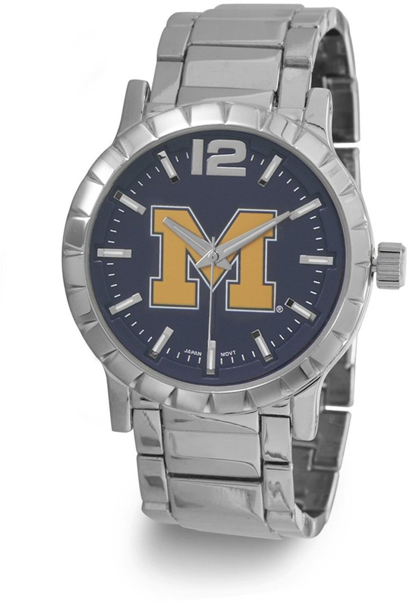 Collegiate Licensed University of Michigan Mens Fashion Watch