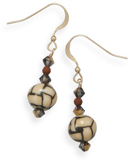 14/20 Crystal Gold Filled Earrings with Ceramic Beads
