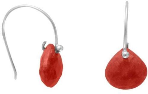 Rough-Cut Carnelian Earrings 925 Sterling Silver