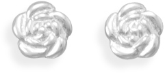 Flower Stud Earrings 925 Sterling Silver
