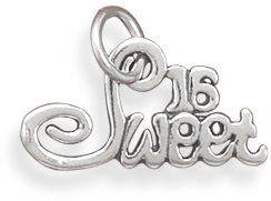 Sweet 16 Charm 925 Sterling Silver