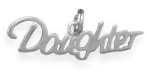 Daughter Charm 925 Sterling Silver