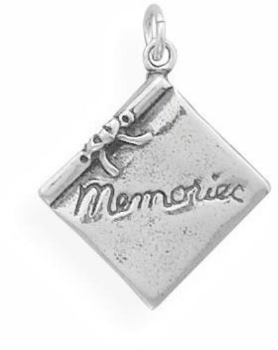 Scrap Book Charm 925 Sterling Silver