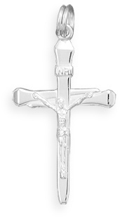 Polished Crucifix Pendant 925 Sterling Silver
