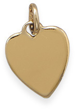 14/20 Gold Filled Heart Engravable Tag