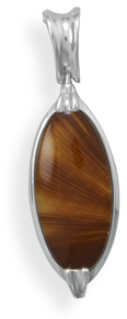 Cognac and Butterscotch Baltic Amber Pendant 925 Sterling Silver