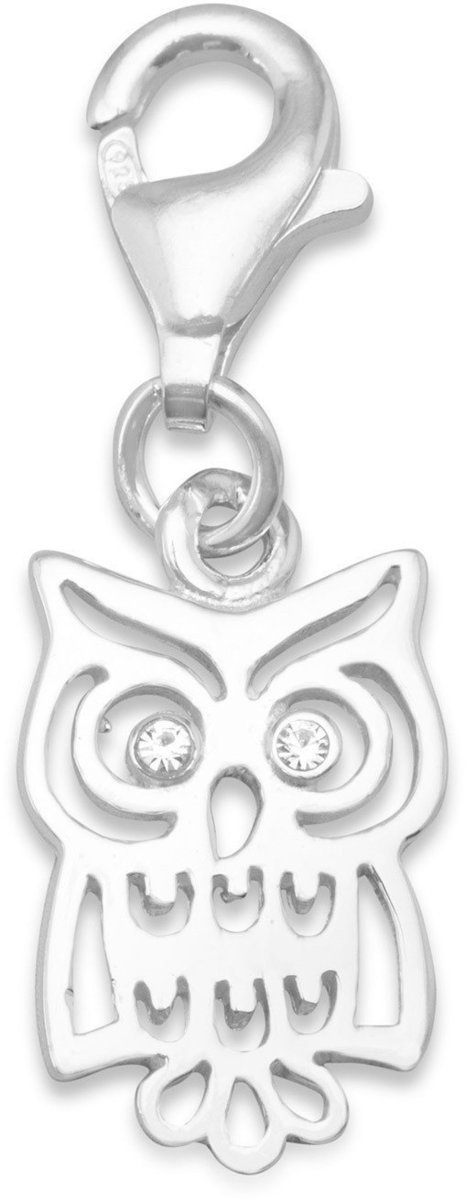 Owl Charm with Lobster Clasp 925 Sterling Silver