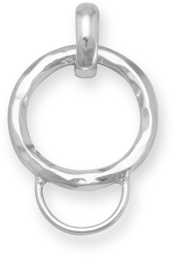 Textured Charm Holder Pendant 925 Sterling Silver