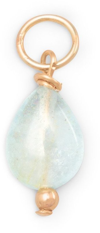14/20 Gold Filled Aquamarine Charm - March Birthstone