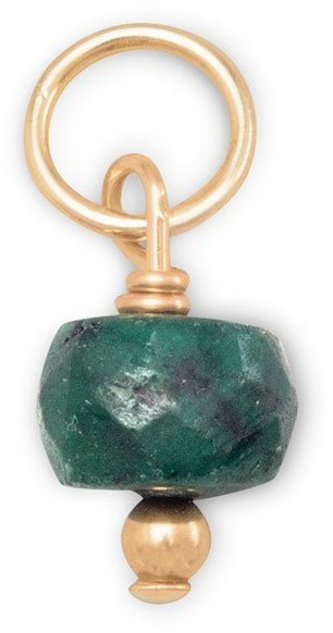 14/20 Gold Filled Emerald Charm - May Birthstone