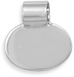 Oval Engravable Slide 925 Sterling Silver - DISCONTINUED