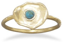 Brass and Turquoise Ring