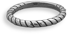 Oxidized Rope Design Band 925 Sterling Silver