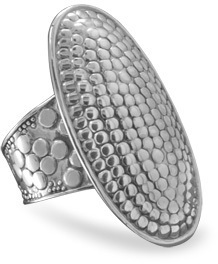 Oval Dot Design Ring 925 Sterling Silver
