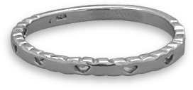 Cut Out Heart Band 925 Sterling Silver