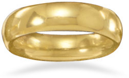 "5mm (1/5"") 14 Karat Gold Plated Band 925 Sterling Silver"