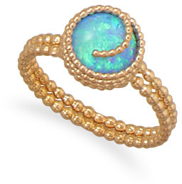 12/20 Gold Filled Synthetic Opal Ring - DISCONTINUED