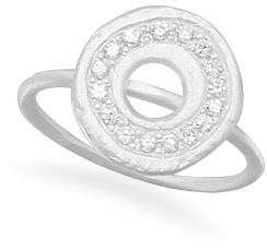 CZ Circle Ring 925 Sterling Silver