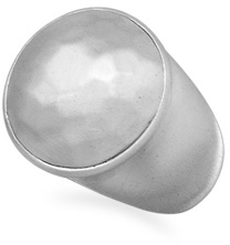 Matte Finish Hammered Ring 925 Sterling Silver