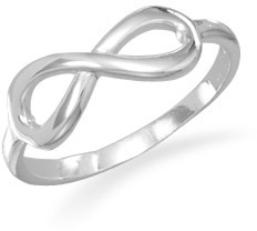 Polished Infinity Ring 925 Sterling Silver