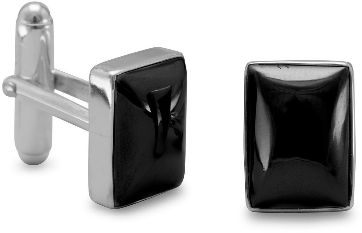 Hematite Cuff Links 925 Sterling Silver