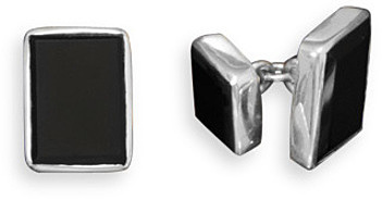 Black Onyx Cuff Links 925 Sterling Silver