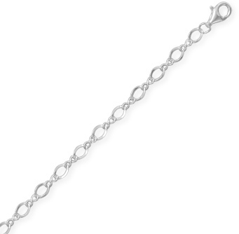 "22"" Figure 8 Chain Necklace (3.5mm / 1/8"") 925 Sterling Silver"