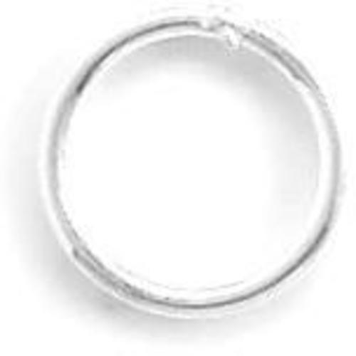 "6mm (1/4"") Closed Jump Ring 925 Sterling Silver"