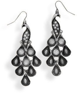 Oxidized Peacock Design Fashion Earrings - DISCONTINUED
