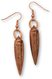 Copper Spike Earrings