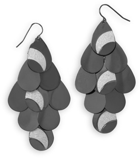 Gunmetal Tone Chandelier Fashion Earrings - DISCONTINUED