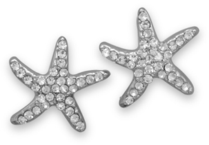 Crystal Starfish Fashion Earrings