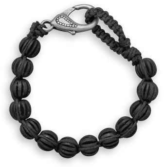 "8.5"" Black Wood Fashion Bracelet"