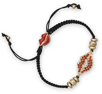 Sealed with A Kiss Adjustable Cord Fashion Bracelet