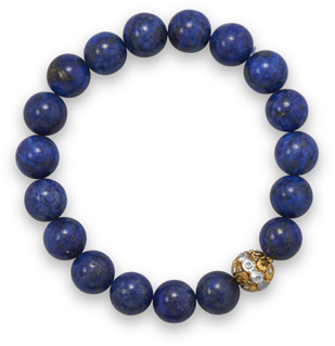 Lapis Bead Fashion Stretch Bracelet
