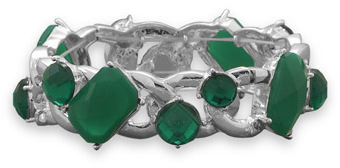 Green Fashion Stretch Bracelet