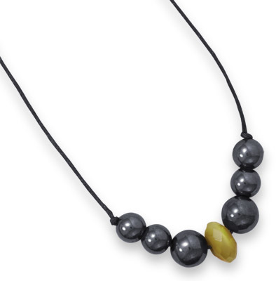 "22"" Fashion Necklace with Hematite"