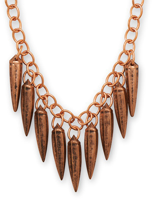 "18"" + 2"" Copper Spikes Necklace"