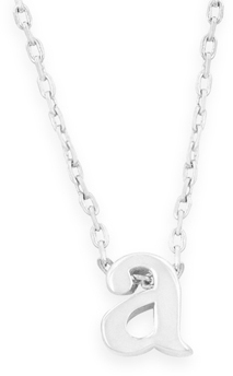"16"" + 2"" Rhodium Plated Brass Initial ""a"" Necklace - DISCONTINUED"